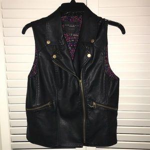 Sanctuary Clothing Faux Leather Vest